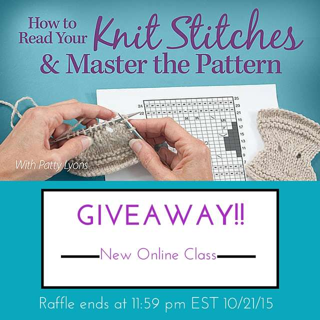 How To Read A Knit Pattern : Giveaway - Your chance to win a free online knitting class