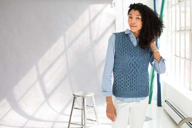 Patchwork Cable Vest