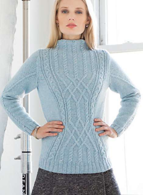 Hourglass Cable Pullover