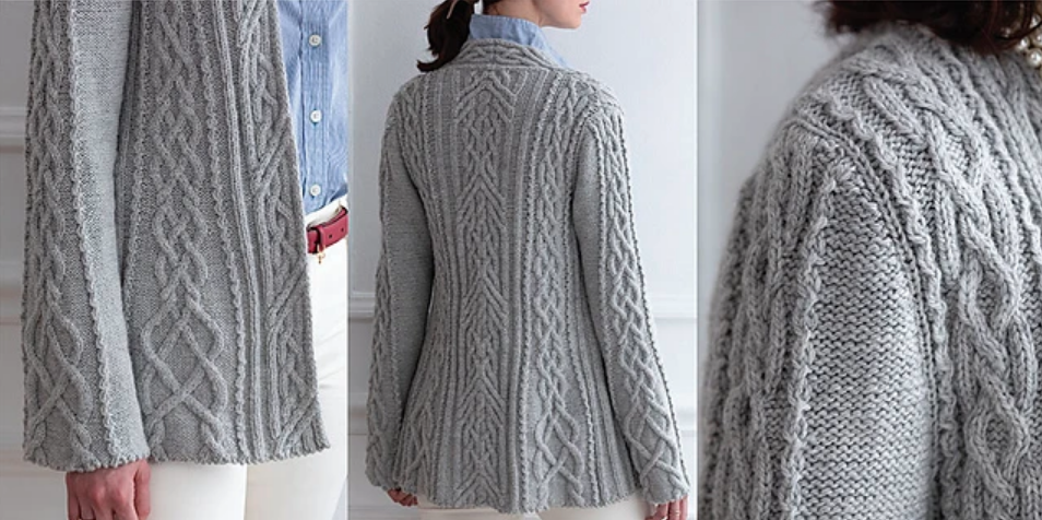 """Maker"" Cable Cardigan"